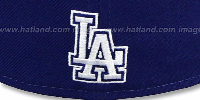 Dodgers 'SCRIPT-PUNCH' Royal-Grey Fitted Hat by New Era