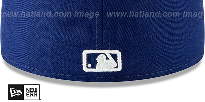 Dodgers 'SILVER SHATTERED METAL-BADGE' Royal Fitted Hat by New Era