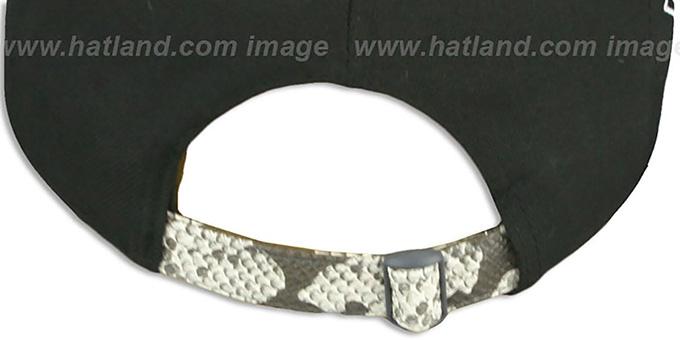 a2eb6c518 ... Dodgers 'SNAKE-THRU STRAPBACK' Black-White Adjustable Hat by New Era