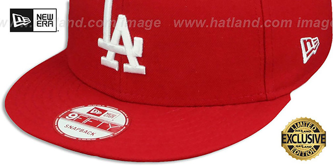 Dodgers 'TEAM-BASIC SNAPBACK' Red-White Hat by New Era