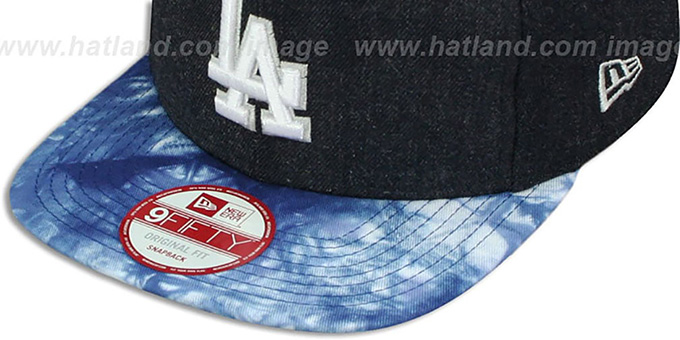Dodgers 'ZONE-VIZE SNAPBACK' Navy Hat by New Era