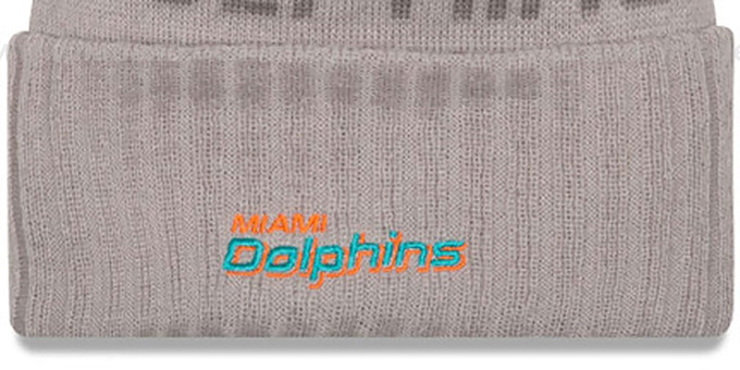 Dolphins '2015 STADIUM' Grey-Aqua Knit Beanie Hat by New Era