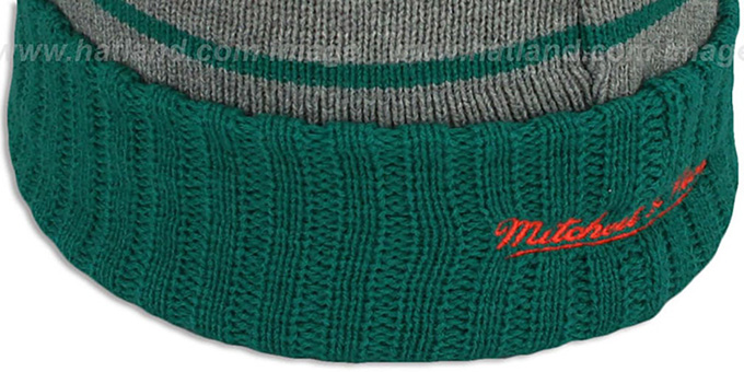Dolphins 'HIGH-5 CIRCLE BEANIE' Grey-Aqua by Mitchell and Ness