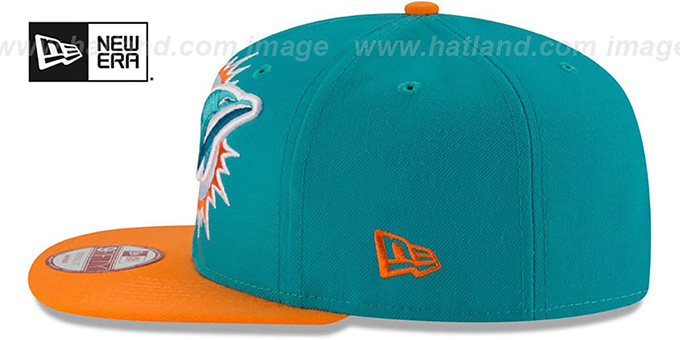 Dolphins 'LOGO GRAND REDUX SNAPBACK' Aqua-Orange Hat by New Era