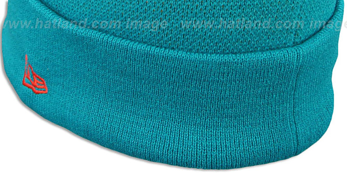 Dolphins 'NFL-BIGGIE' Navy Knit Beanie Hat by New Era