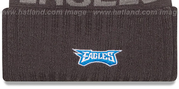 Eagles '2015 STADIUM' Charcoal-Blue Knit Beanie Hat by New Era