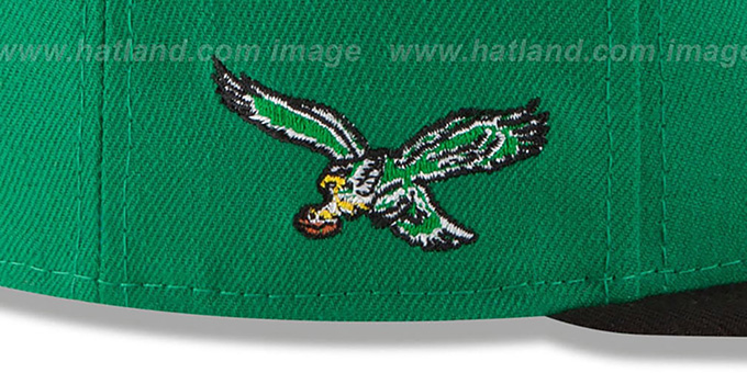 Eagles '2T RETRO-SCRIPT SNAPBACK' Green-Black Hat by New Era