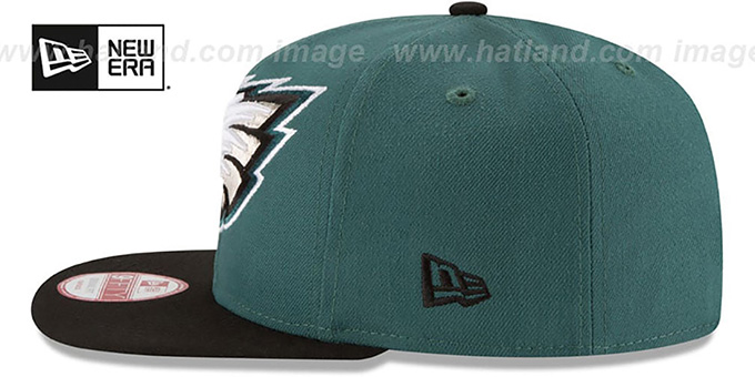 Eagles 'LOGO GRAND REDUX SNAPBACK' Green-Black Hat by New Era