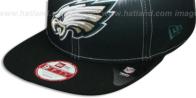 Eagles 'SUBLENDER SNAPBACK' Black-White Hat by New Era