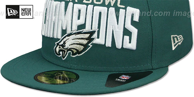 ... Eagles  SUPER BOWL LII CHAMPIONS  Green Fitted Hat by New Era ef864a60f