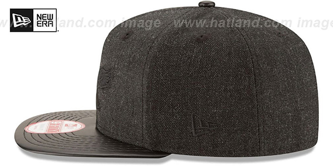 Eagles 'THROWBACK LEATHER-MATCH SNAPBACK' Black Hat by New Era