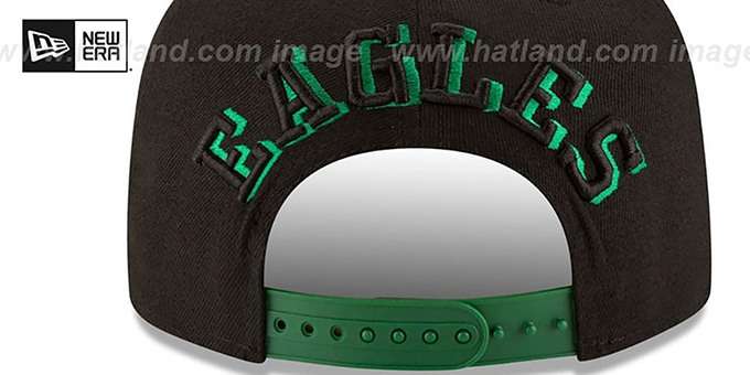 Eagles 'THROWBACK SHADOW SLICE SNAPBACK' Black-Green Hat by New Era