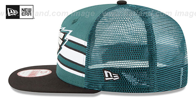 Eagles 'THROWBACK-STRIPE SNAPBACK' Green-Black Hat by New Era