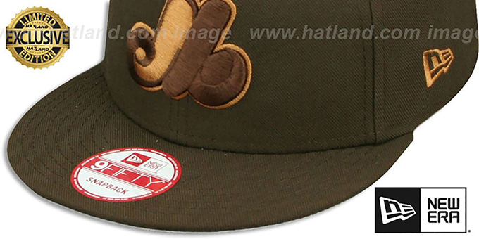 Expos COOP 'TEAM-BASIC SNAPBACK' Brown-Wheat Hat by New Era