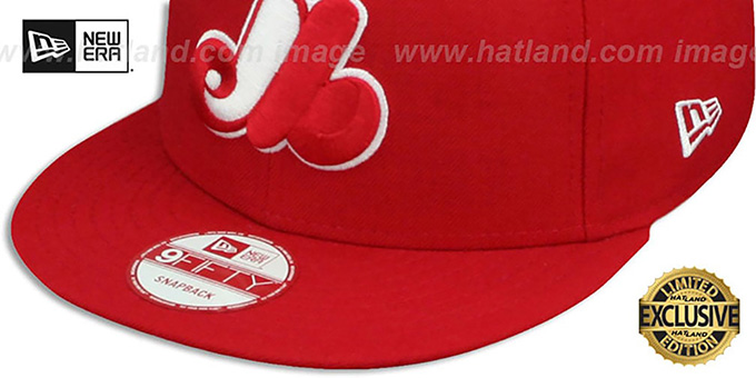 c8d3355276a ... Expos COOP  TEAM-BASIC SNAPBACK  Red-White Hat by New Era