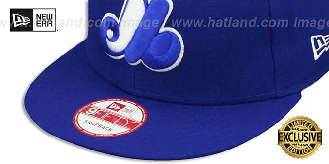 11f14112a48 ... Expos COOP  TEAM-BASIC SNAPBACK  Royal-White Hat by New Era