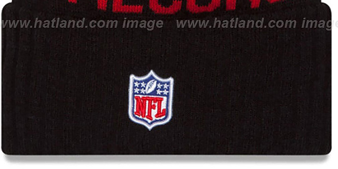 Falcons '2015 STADIUM' Black-Red Knit Beanie Hat by New Era