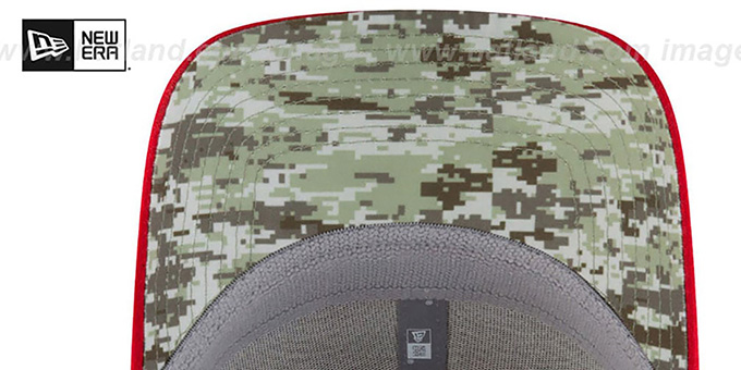 Falcons '2017 SALUTE-TO-SERVICE FLEX' Green-Red Hat by New Era