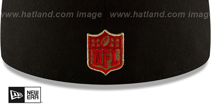 Falcons 'GOLD METALLIC STOPPER' Black Fitted Hat by New Era