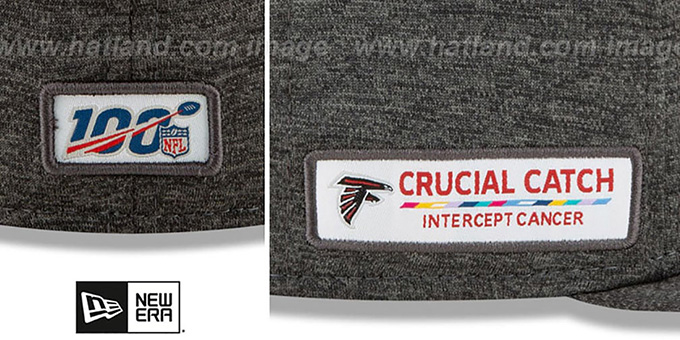 Falcons 'ONFIELD CRUCIAL CATCH' Grey Fitted Hat by New Era