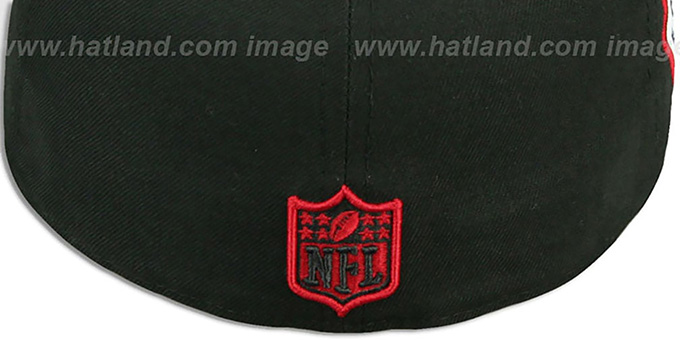 Falcons 'SIDE TEAM-PATCH' Black Fitted Hat by New Era