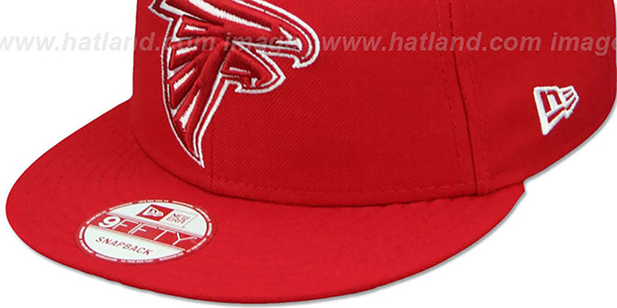 Falcons 'TEAM-BASIC SNAPBACK' Red-White Hat by New Era