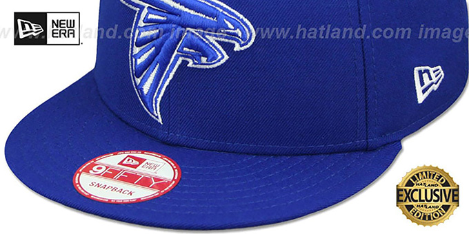 Falcons 'TEAM-BASIC SNAPBACK' Royal-White Hat by New Era
