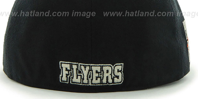Flyers 'NHL CATERPILLAR' Black Fitted Hat by 47 Brand