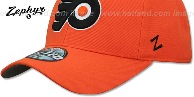 Flyers 'SHOOTOUT' Orange Fitted Hat by Zephyr