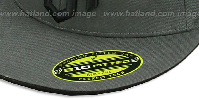 Fox 'OVER AND OUT' Dark Grey 210 Fitted Hat by FlexFit