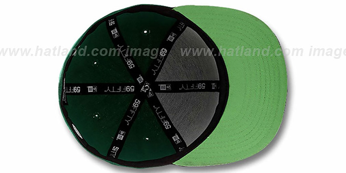GREEN LANTERN 'HERO-HCL' Green-Black Fitted Hat by New Era
