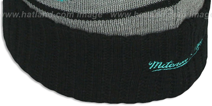 Grizzlies 'HIGH-5 CIRCLE BEANIE' Grey-Black by Mitchell and Ness