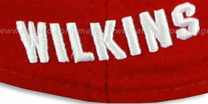 Hawks WILKINS 'TEAM-UP' Red-White Fitted Hat by New Era