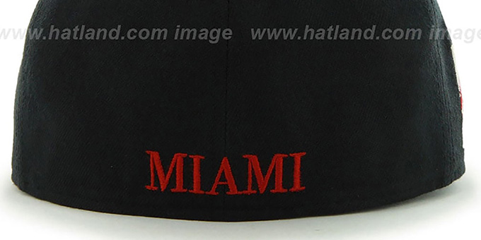 Heat 'HWC CATERPILLAR' Black Fitted Hat by 47 Brand