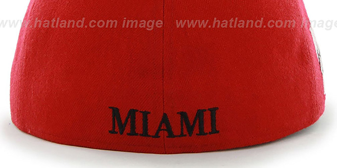 Heat 'HWC CATERPILLAR' Red Fitted Hat by 47 Brand