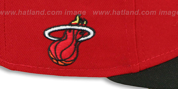Heat 'HWC-TIGHT' Red-Black Fitted Hat by New Era