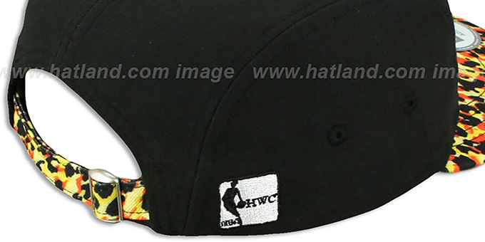 Heat 'LEOPARD CAMPER STRAPBACK' Black Hat by New Era