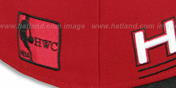 Heat 'TECH MARK' Red-Black Fitted Hat by New Era