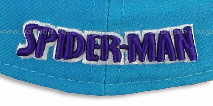 Hornets 'BIG WORD ACTION' Teal-Purple Fitted Hat by New Era