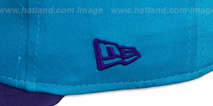 Hornets 'CHALK-UP HERO SNAPBACK' Teal-Purple Hat by New Era