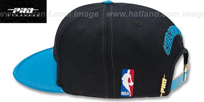competitive price 713af b4d97 ... Hornets  HORIZON STRAPBACK  Black-Teal Hat by Pro Standard