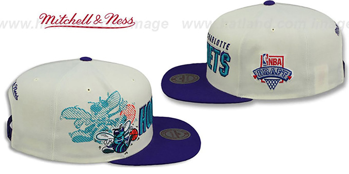 Hornets 'SHADOW DRAFT SNAPBACK' Hat by Mitchell and Ness