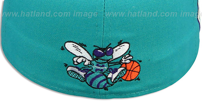 Hornets 'SIDE TEAM-PATCH' Teal Fitted Hat by New Era