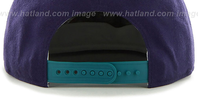 Hornets 'SURE-SHOT SNAPBACK' Purple-Teal Hat by Twins 47 Brand
