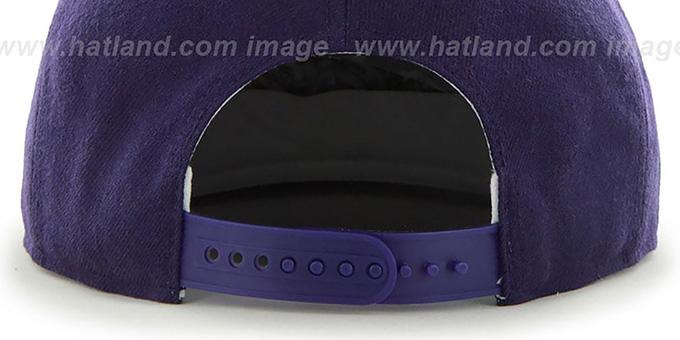 ... Hornets  SURE-SHOT SNAPBACK  Purple Hat by Twins 47 Brand 433dd2b2fc3e