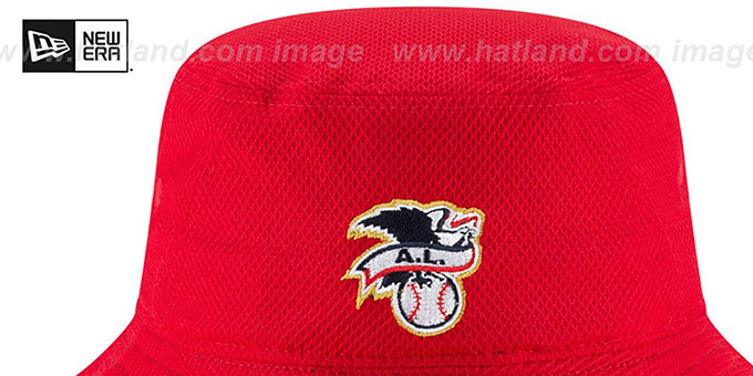 Indians '2018 JULY 4TH STARS N STRIPES BUCKET' Red Hat by New Era