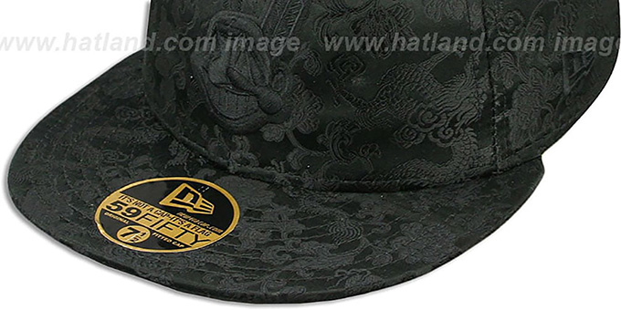 Indians 'BLACKOUT SILK-DRAGONS' Fitted Hat by New Era