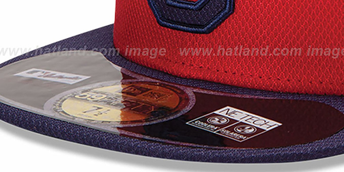 Indians 'MLB DIAMOND ERA' 59FIFTY Red-Navy BP Hat by New Era