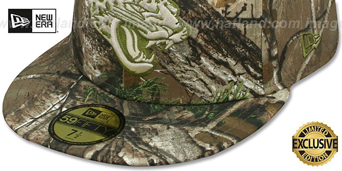 Jaguars 'NFL TEAM-BASIC' Realtree Camo Fitted Hat by New Era
