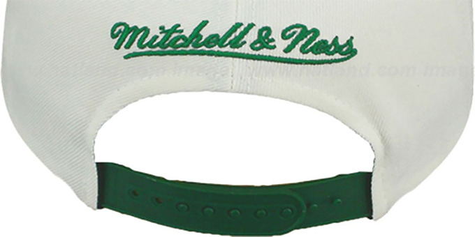 Jets '2T TAILSWEEPER SNAPBACK' White-Green Hat by Mitchell & Ness